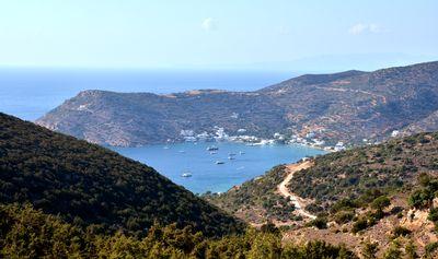 Village de Vathy sur l'île de Sifnos en Grèce