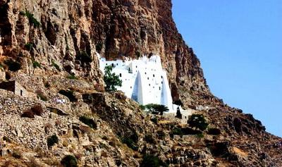 randonnée à Amorgos - monastère de Chozoviotissa