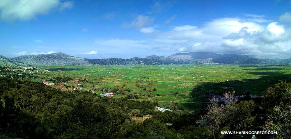 Panorama depuis le plateau de Lassithi en Crète de l'Est