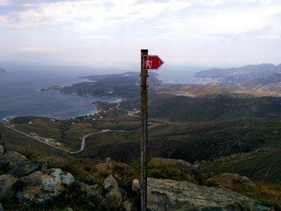 Circuits de randonnée en Grèce, chemin à Sérifos