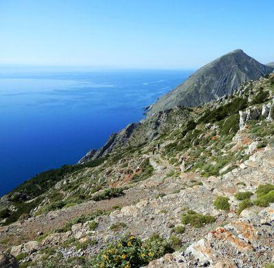 Chemin de randonnée à Karpathos