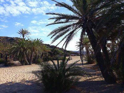 Randonnée en Crète de l'Est : plage de Vai