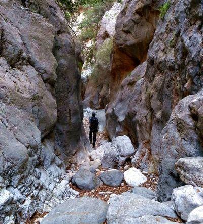 Randonnée dans les gorges de Kritsa en Crète de l'Est