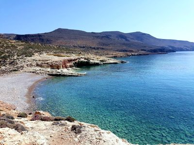 Randonnée en bord de mer en Crète de l'Est