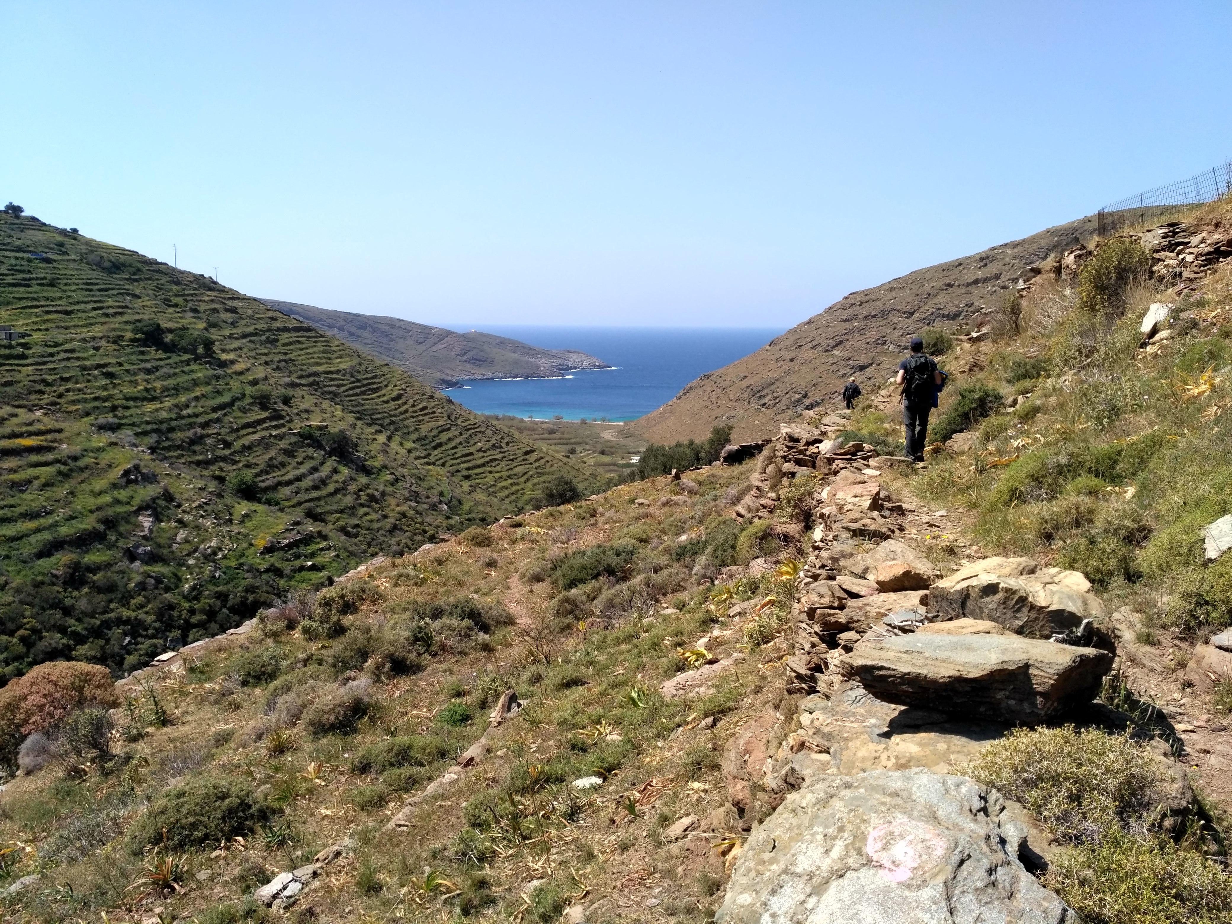 Séjours de randonnée groupes constitués : itinéraire dans les Cyclades