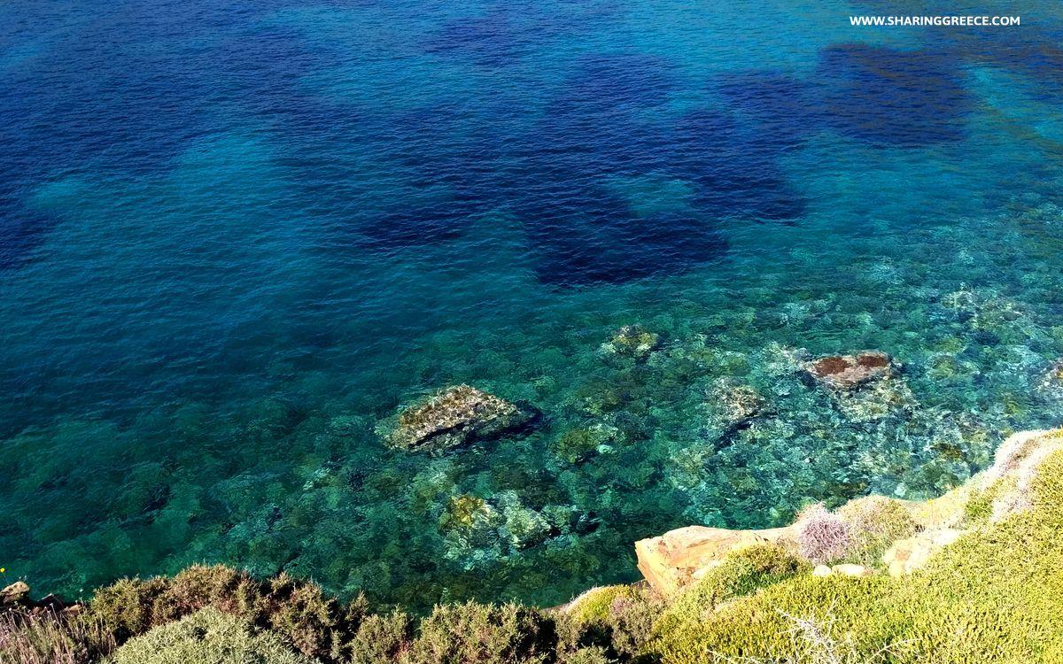 Randonnée à Sérifos, pause à la plage de Sikamia