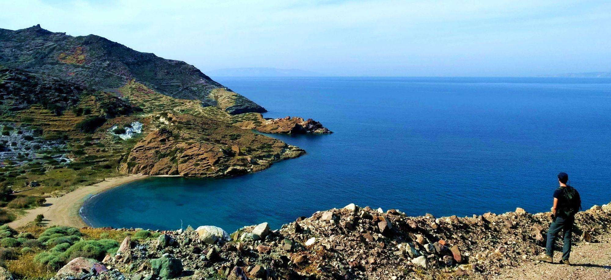 Circuit de randonnée Sifnos et Kimolos : Kimolos, plage de Monastiria