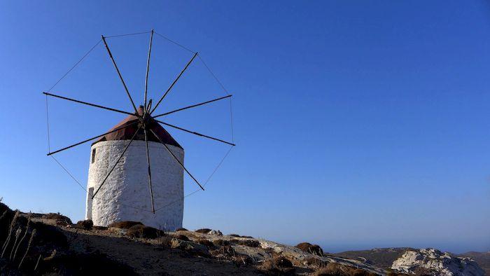 Circuit de randonnée à Amorgos : moulin à vent