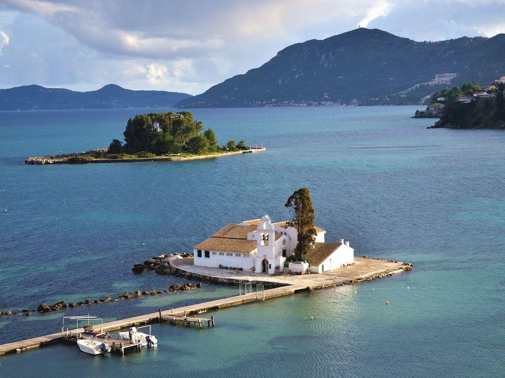 Randonnée en Grèce, Corfou, Pontikonisi