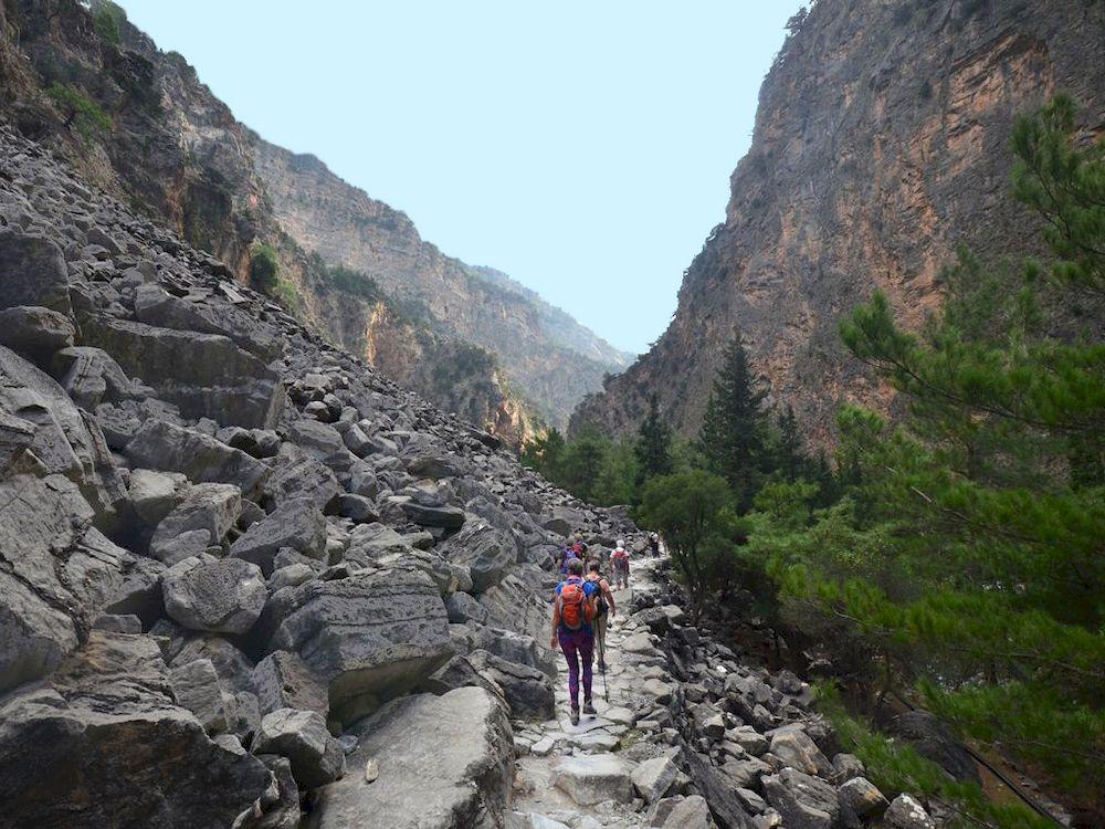 Randonnée en Grèce, Crète, Gorges de Samaria