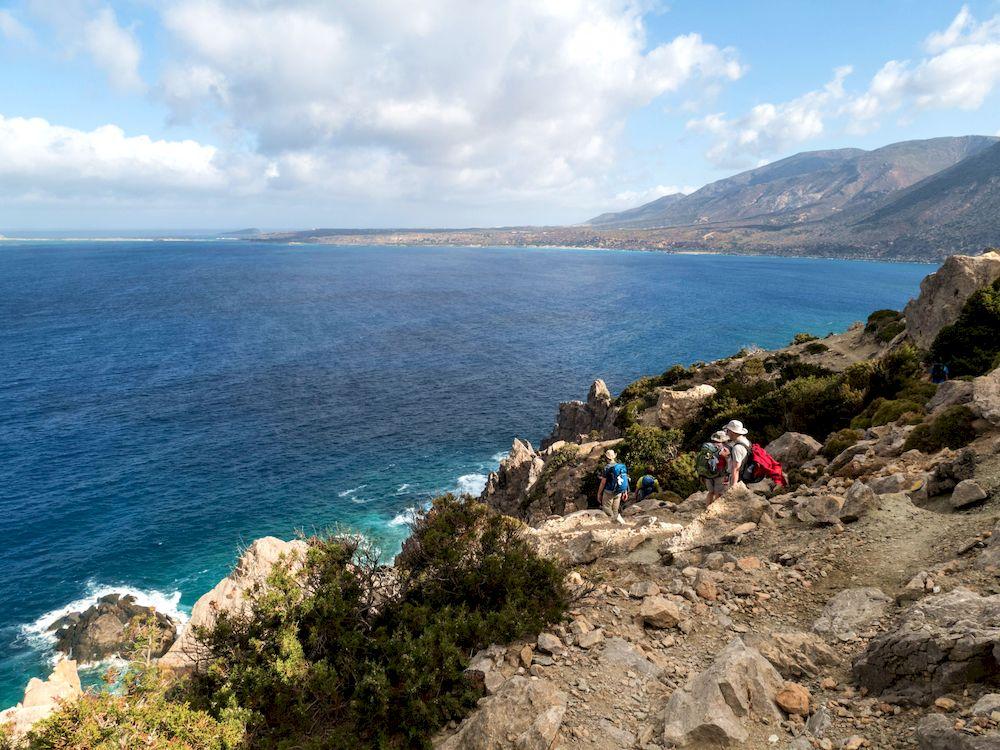 Randonnée en Grèce, Crète, Paleochora Elafonissi