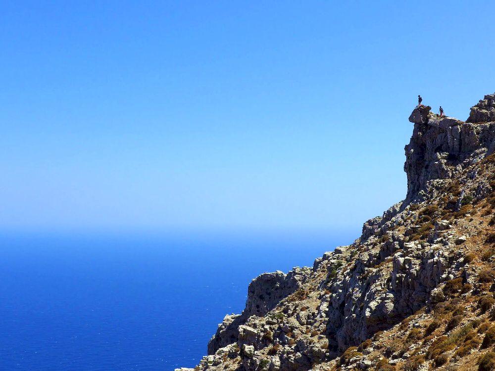 Randonnée en Grèce, Cyclades, Amorgos, chemin vers Stavros