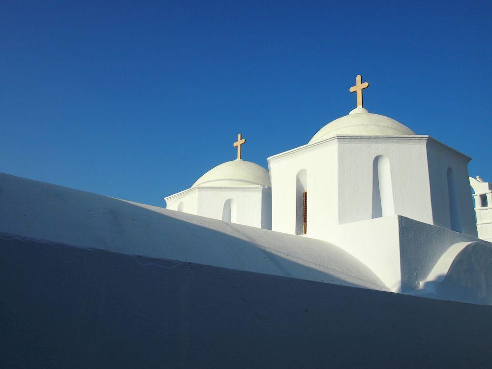 Randonnée en Grèce, Cyclades, Amorgos, une église à Chora