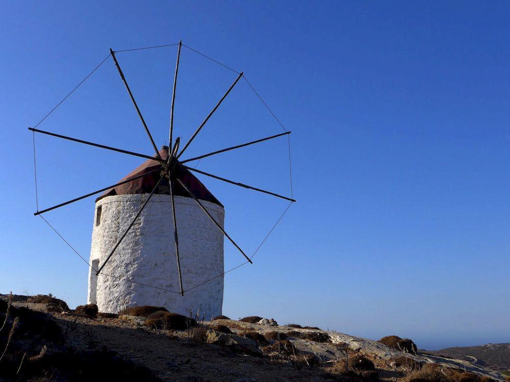 Randonnée en Grèce, Cyclades, Amorgos, moulin à vent