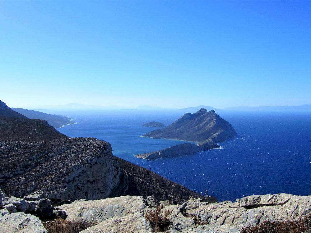 Randonnée en Grèce, Cyclades, Amorgos, Nikouria