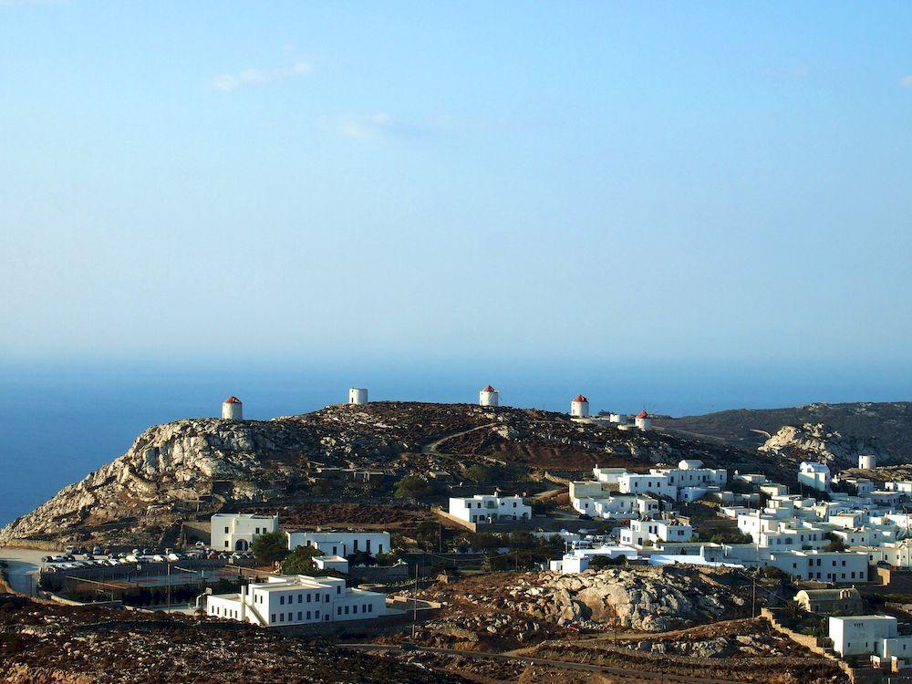 Randonnée en Grèce, Cyclades, Amorgos, village de Chora