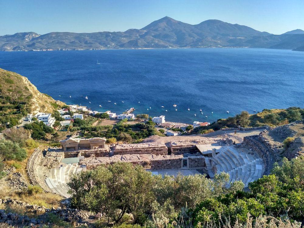Randonnée en Grèce, Cyclades, Milos, théâtre antique