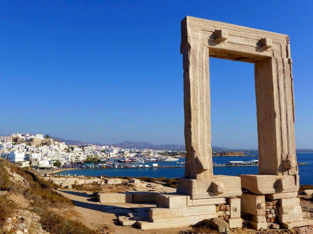 Randonnée en Grèce, Cyclades, Naxos, Portara