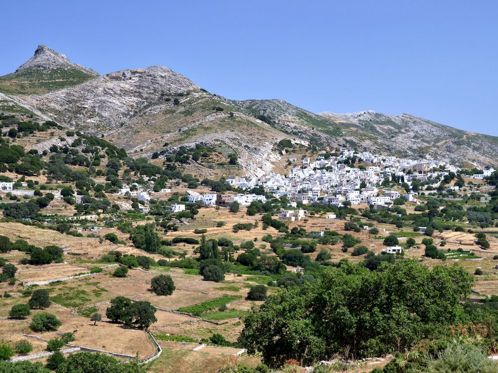Randonnée en Grèce, Cyclades, Naxos, paysage