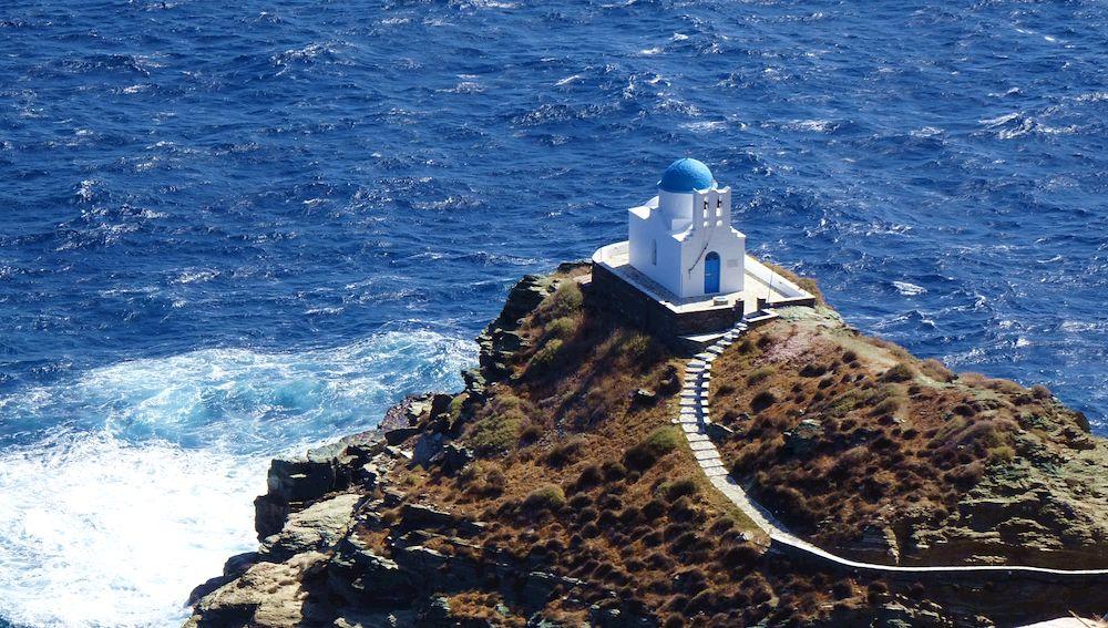 Circuit de randonnée Sifnos et Kimolos : église Eftamartyres