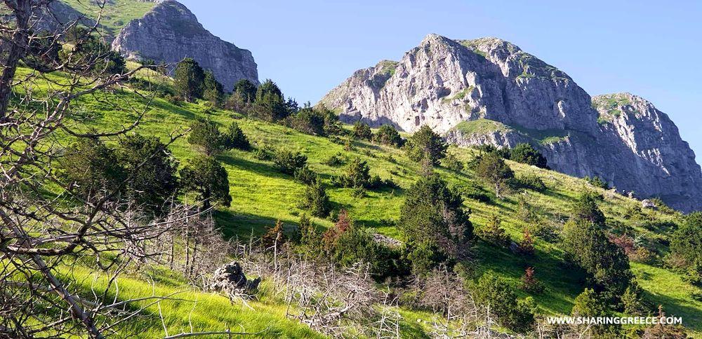 Itinéraire de randonnée en Grèce de 15 jours : circuit Épire Météores et Corfou , sur les hauteurs du Mont Timfi
