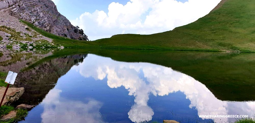 Randonnée en Grèce, circuit Epire Meteores Corfou, lac de Drakolimni sur le mont Timfi