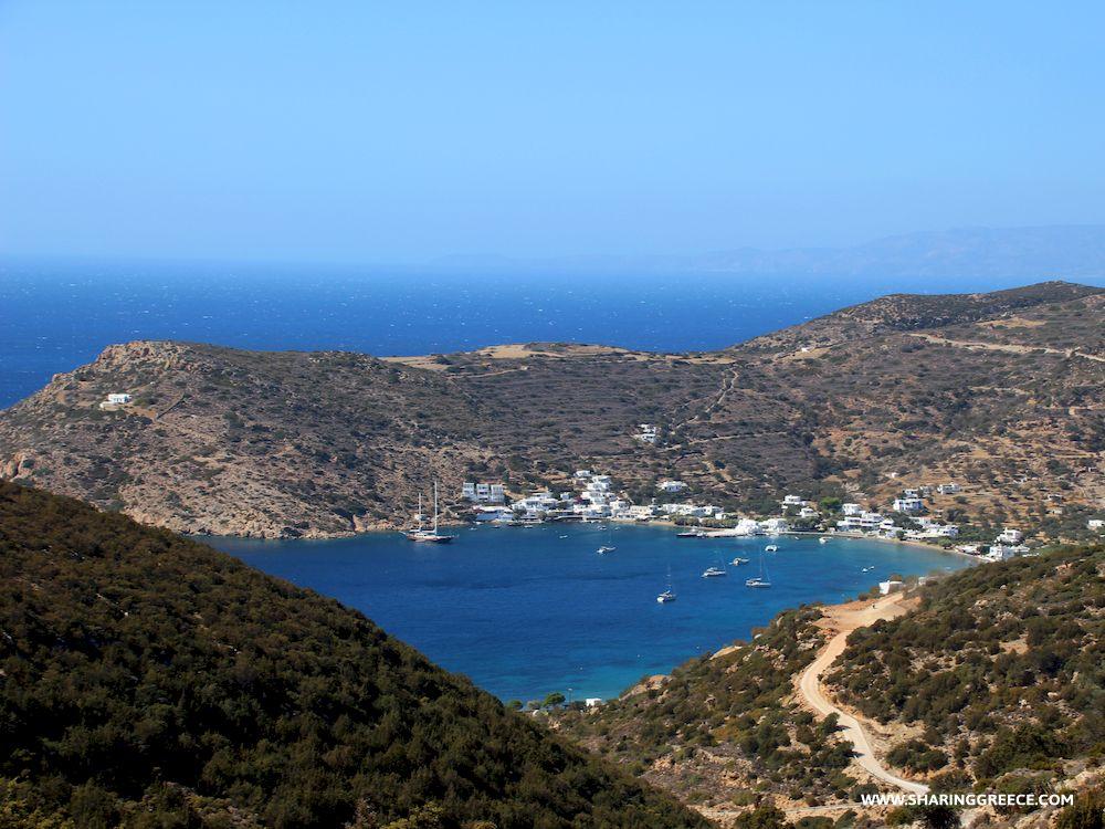 Randonnée en Grèce avec Sharing Greece, Cyclades, Sifnos, village de Vathy