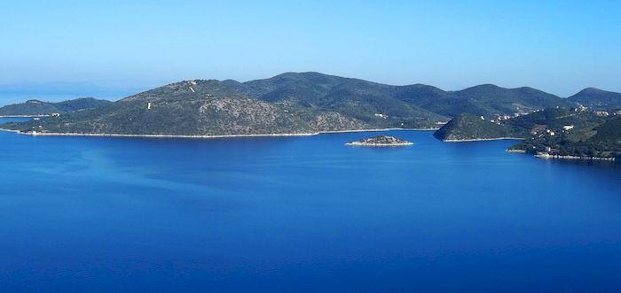 Vue sur les îles ioniennes en Grèce