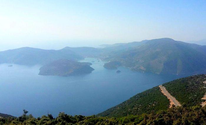 Circuit de randonnée Îles ioniennes : vue depuis le chemin de randonnée à Ithaque