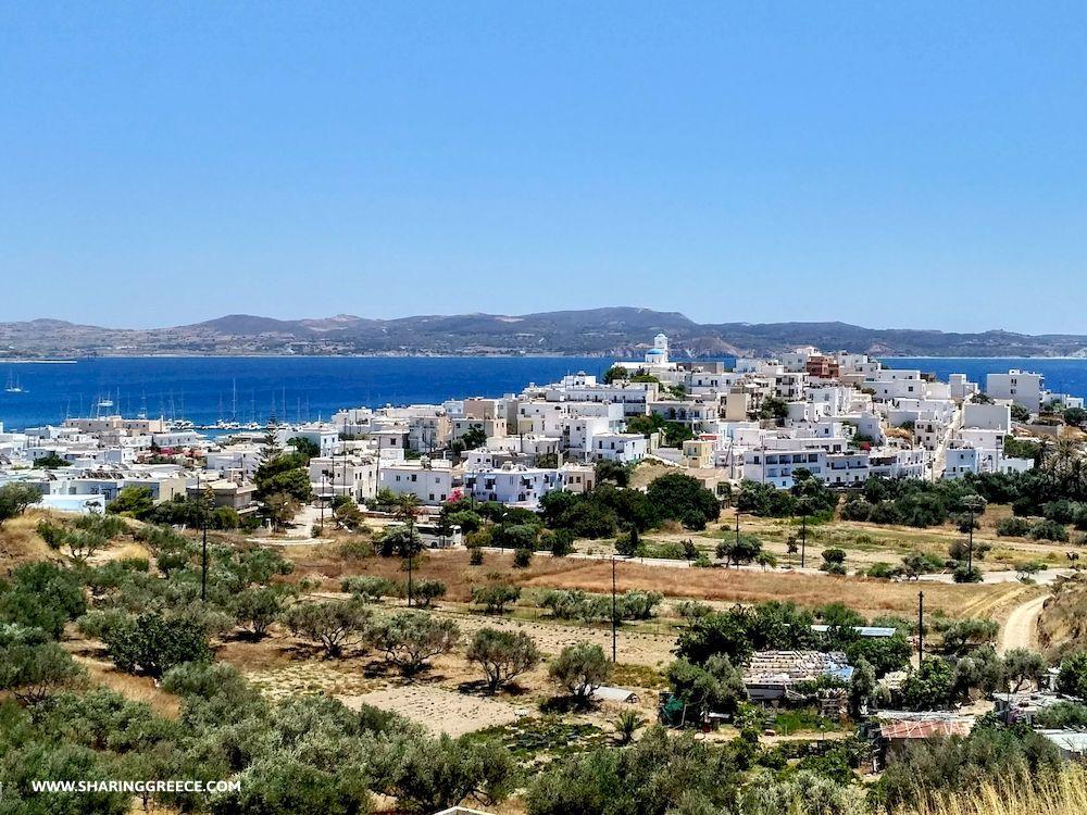 Randonnée en Grèce, Cyclades, Milos, village d'Adamantas