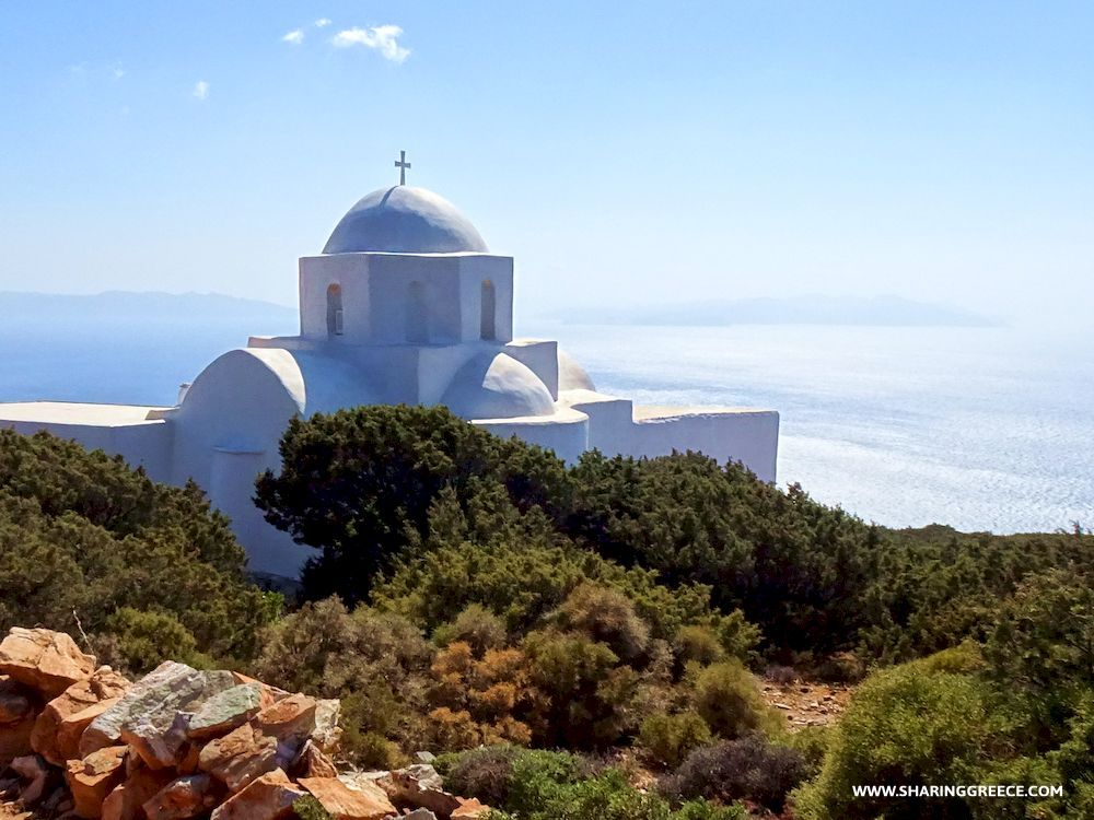 Randonnée en Grèce avec Sharing Greece, Cyclades, Sifnos, église Agios Nikolaos