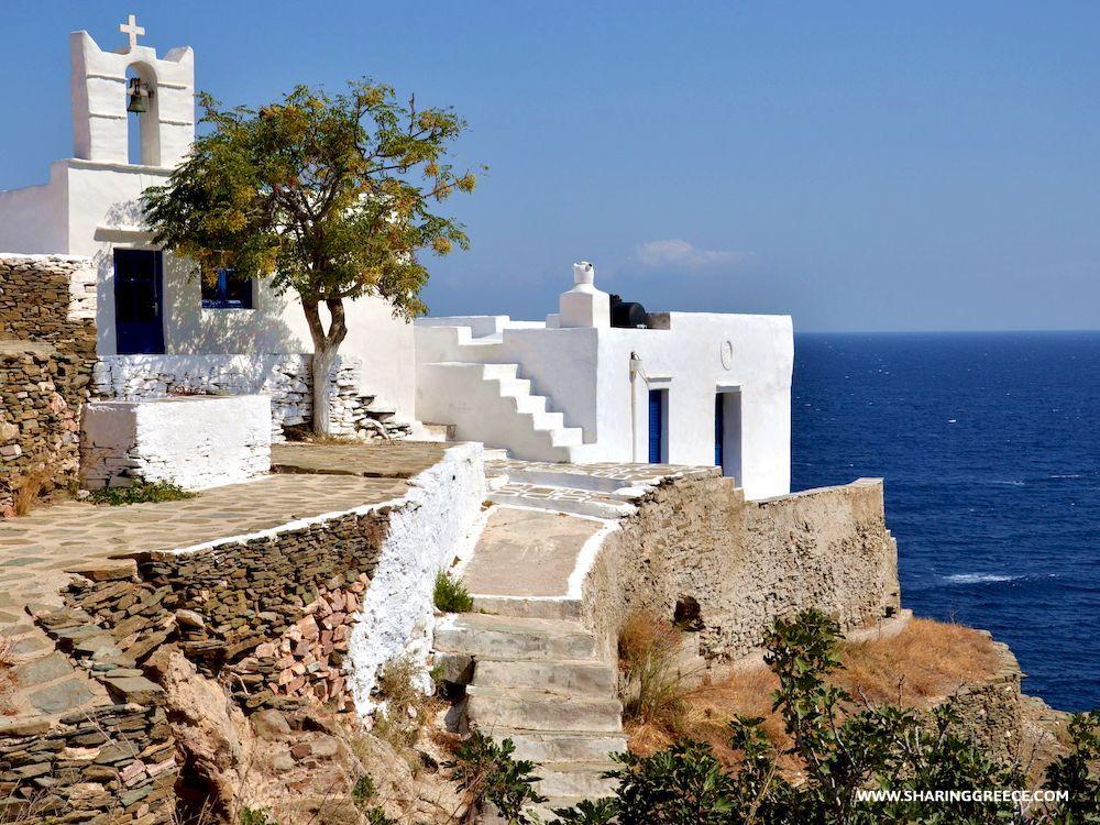 Randonnée en Grèce avec Sharing Greece, Cyclades, Sifnos, église de Metamorfosi tou Sotiros